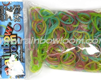Twinkle Bright Glitter Mix Rainbow Loom Bands Refill. 600 bands & c-clips. Guaranteed authentic. Latex-free.