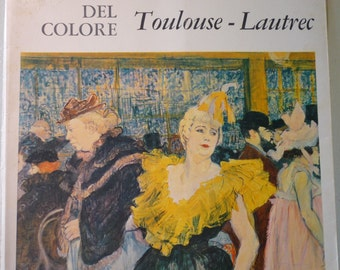 Vintage Book -Toulouse-Lautrec  - 1964 - Maestri del Colore - Italian edition - for framing for art lovers Paris art scene Moulin Rouge