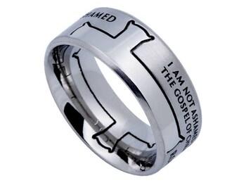"""Iron Cross Ring """"Not Ashamed"""""""