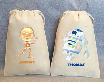 """24 Star Wars Party, Star Wars party Favor Bags,Star Wars favors, 4""""x6"""""""