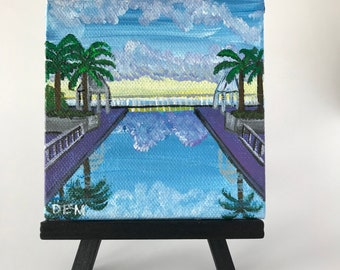 Painting of the Sky's Reflection in a Still Pool