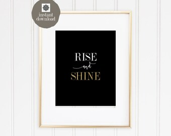 8x10 Rise & Shine - Office Print, INSTANT DOWNLOAD