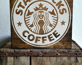 "12"" x 12"" Starbucks Coffee Sign"
