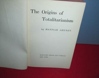 """First Edition, 1951:  """"The Origins of Totalitarianism"""" by Hannah Arendt"""