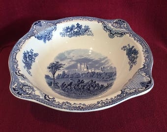 Johnson Brothers Old Britain Castles, Bolsover Castle in 1792 Fruit or Serving Bowl
