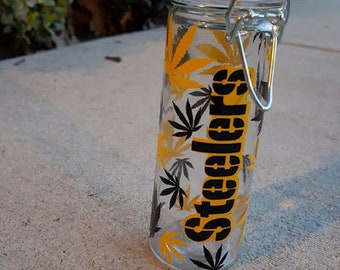 Cannabis Steelers Roach Jar