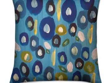 """Floral Throw Cushions """"Antigua Blooms"""" Limited Edition Print - 40 cm"""
