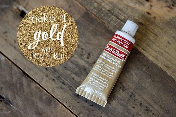 Antique Gold Rub N Buff Metallic Finish Wood And Metal