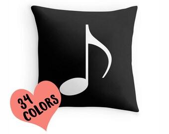 Music Pillow, Music Gift, Music Room, Music Teacher Gift, Music Bedding, Music Cushion, Music Decor, Music Throw Pillow, Music Lover, Music