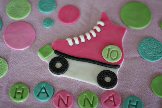 how to make a fondant roller skate