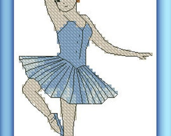 Little blue ballerina