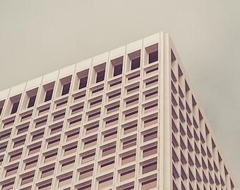 Architectural Art | San Francisco Buildings | Urban Photography | Wall Art | Home Decor | California | Vintage Tones | Square