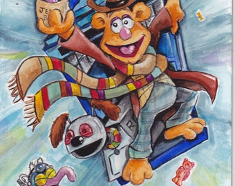 Muppet Who - 4th Doctor - Doctor who / Muppet mash up