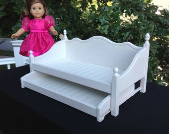 American Girl Doll day bed/ trundle bed furniture