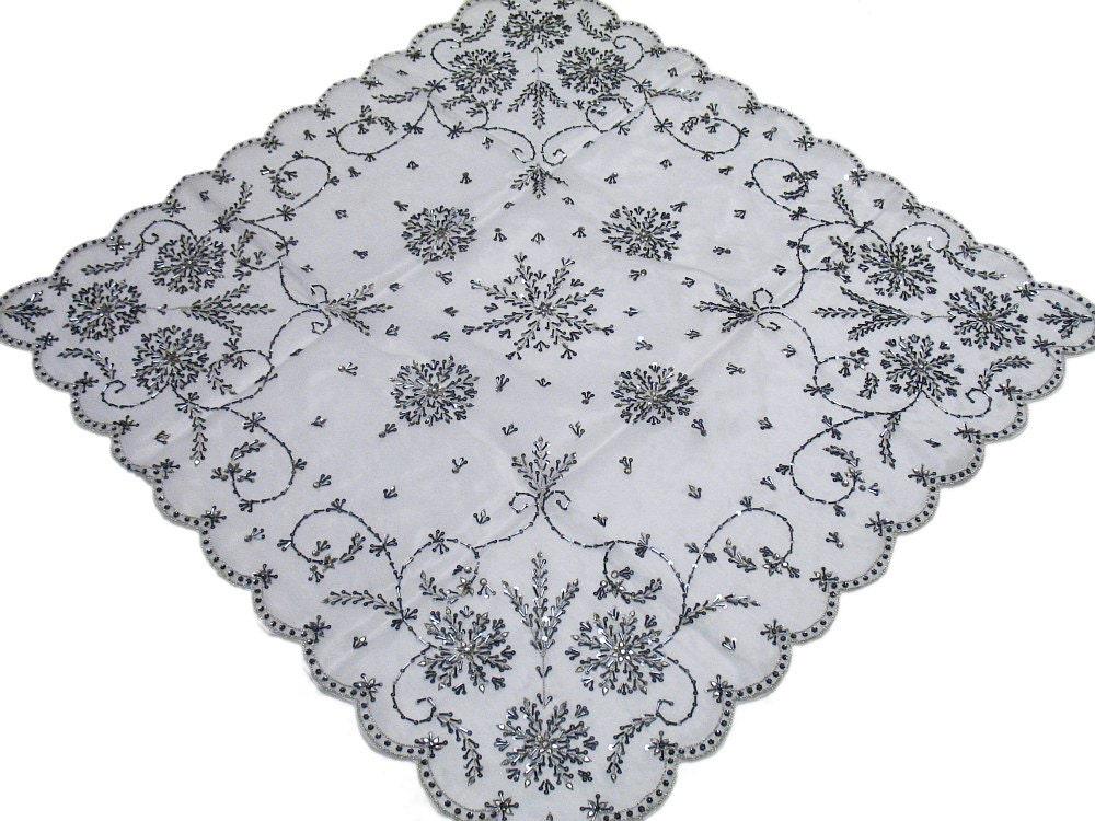 Mariage Table décoration nappe en Organza blanc avec des