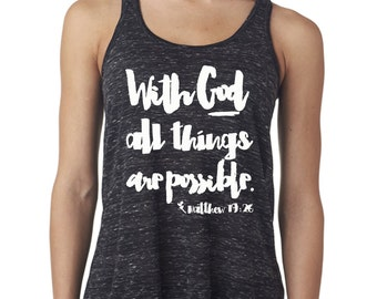 Faith Inspired Workout Tank Top - God is Within Her, She will not Fail