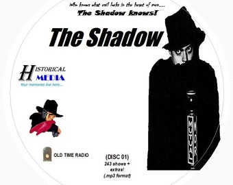 THE SHADOW - 243 Shows of Old Time Radio In MP3 Format OTR On 3 CDs