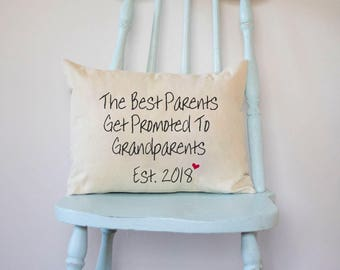 Pregnancy reveal, Hard to buy for, personalized pillow, great grandparents, announcement, father gift, gift for mom grandma grandpa dad pops