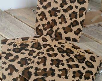 Fantasy Leopard 14.5x11.5x6cm Kraft gift bag