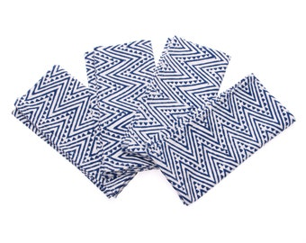 Blue Block Print Napkins