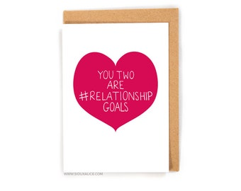 Funny wedding card, congratulations love card wedding, gift engagement marriage card best friend card goals married #relationshipgoals