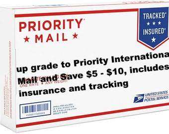 Upgrade to USPS Priority International Mail - Save Money - Includes Insurance - And Get It Faster!