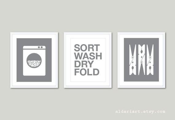 Laundry Room Art Laundry Art Prints Set Of 3 Prints Laundry Room Wall Art