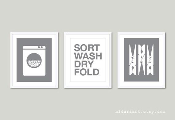 Laundry room decal wall art matt vinyl decals laundry |Laundromat Wall Art