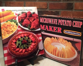 Microwave Cookbook and Potato Chip Maker - Free Shipping