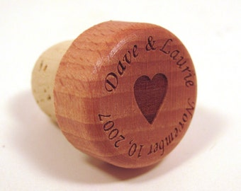 Wedding Wine Bottle Stopper - Wedding Favor or Wedding Gift