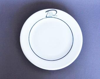 1960's Dinkler Tutwiler Restaurant Dessert Plate - Shenago China Restaurantware