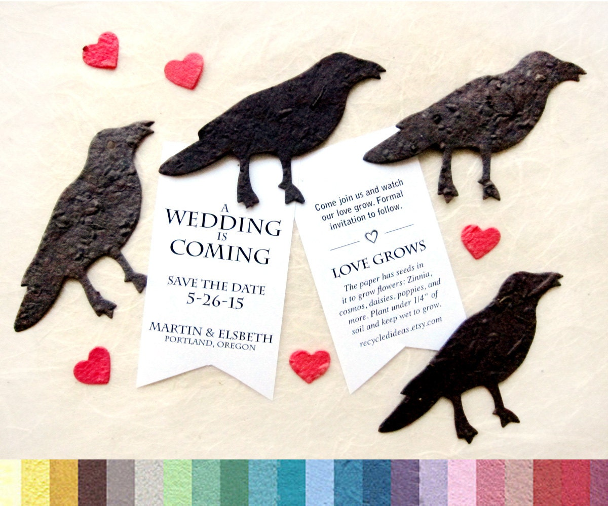 20 Plantable Seed Paper Crows Game of Thrones Inspired DIY