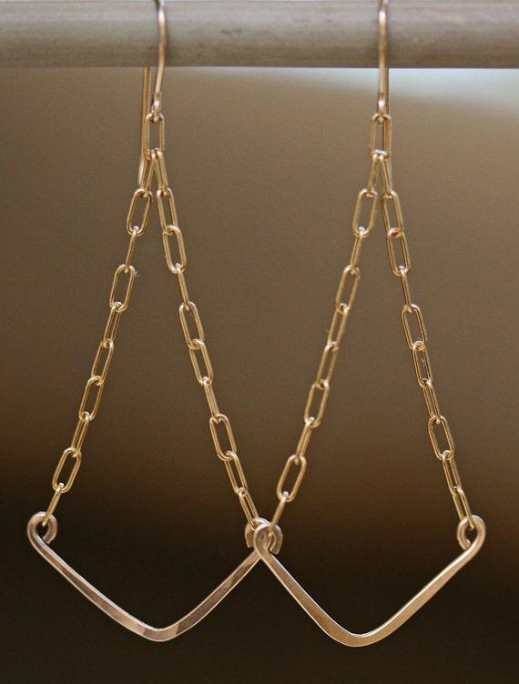 Gold Chevron Earrings
