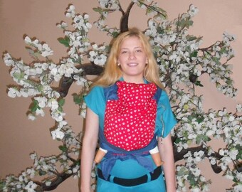 Hearts Blue Mei Tai for Summer Baby Carrier ABC