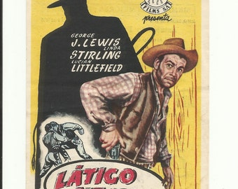Vintage film flyer - Zorro's black whip 1944