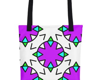 Purple Geometric Tote bag