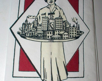 Miss Tulsa 1906 Tea Towel