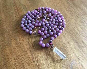 Mala, natural stone mala, jasper mala balancing mala, prayer beads, meditation beads