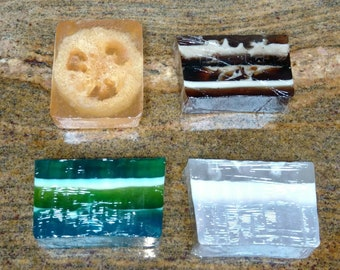 Homemade soap sample pack