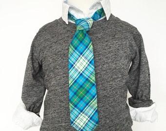 Dark Green and Teal Necktie