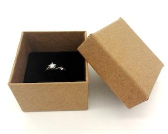Mint box White ribbon Jewelry gift box The Gift box Small size