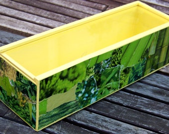 Box of Plexideckel, yellow-green