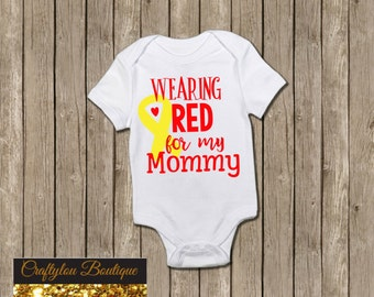 Wearing Red for my Mommy shirt
