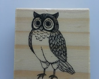 "Block Stamp - ""Owl"""