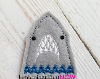 Shark Face Feltie Embroidery Design File
