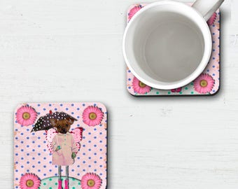 Pink Fairy Chihuahua Coasters, Chiwawa, Cute Chihuahua, Beer Coaster, Pet Coaster, Toy Dog, Drink Coaster, Coffee Coaster, Crazy Dog Lady