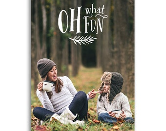 Year In Review Holiday Card Template for Photographers - 5x7 Card - OH WHAT FUN - 1487