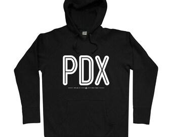 PDX Portland Airport Hoodie - Men S M L XL 2x 3x - Gift for Men, Her, Aviation Hoody, Flying Hoody, PDX Hoody, Pilot Hoody, Flight Attendant