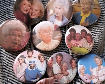 the Golden Girls Random Fandom- handmade 1-1/4 inch pinback button pin pins buttons pingame badge badges