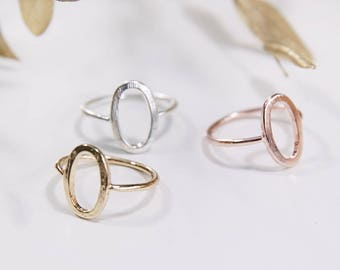 Oval Ring Gold / Rose Gold / Silver